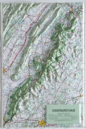 Shenandoah National Park Raised Relief Map