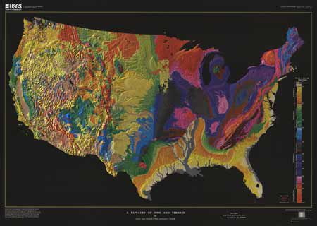 United States Geological Map - Tapestry of Time