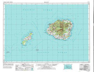 Hawaii Wall Map Map Of Kauai Niihau