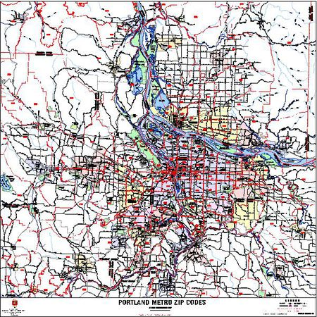 Zip Code Map Of Portland Portland Zip Code Map