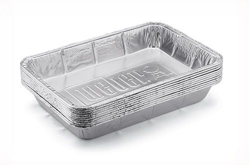 Weber 6415 Small Drip Pans Silver